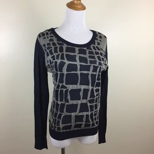 3.1 PHILLIP LIM Silk Blend Textured Knit Sweater